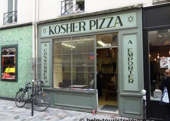 Kosher Pizza im Marais in Paris