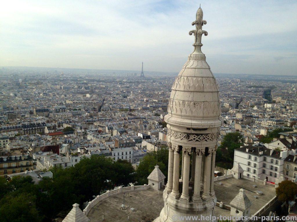Der Blick von Sacre Coeur auf Paris