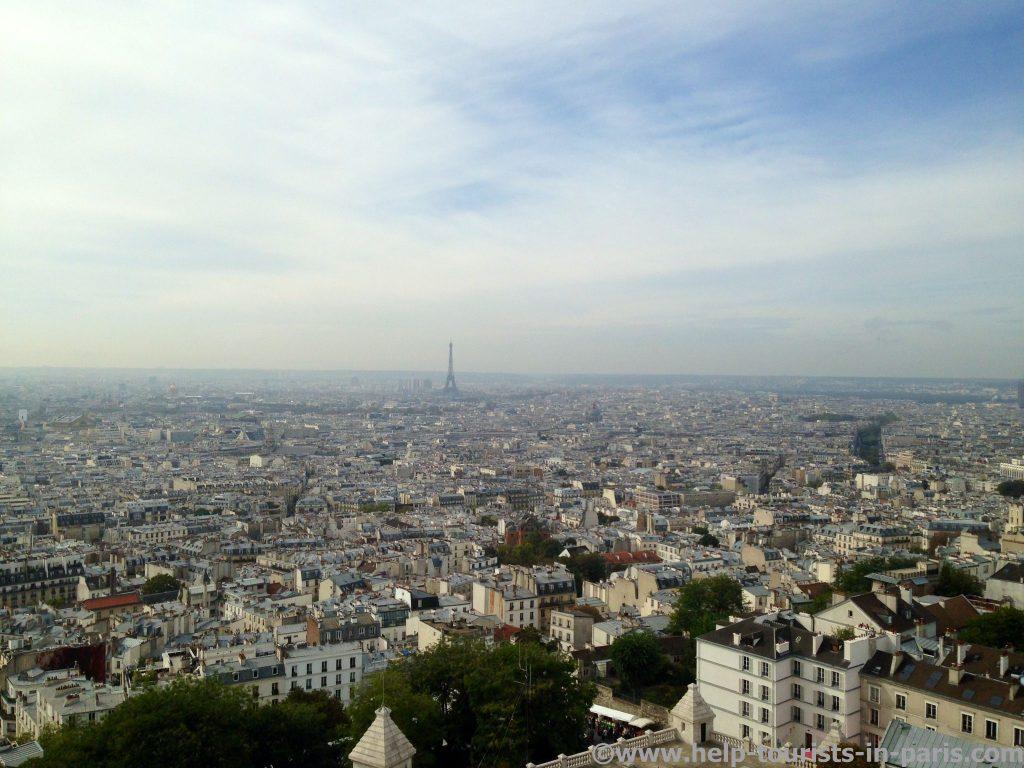 Ausblick von Sacre Coeur auf Paris