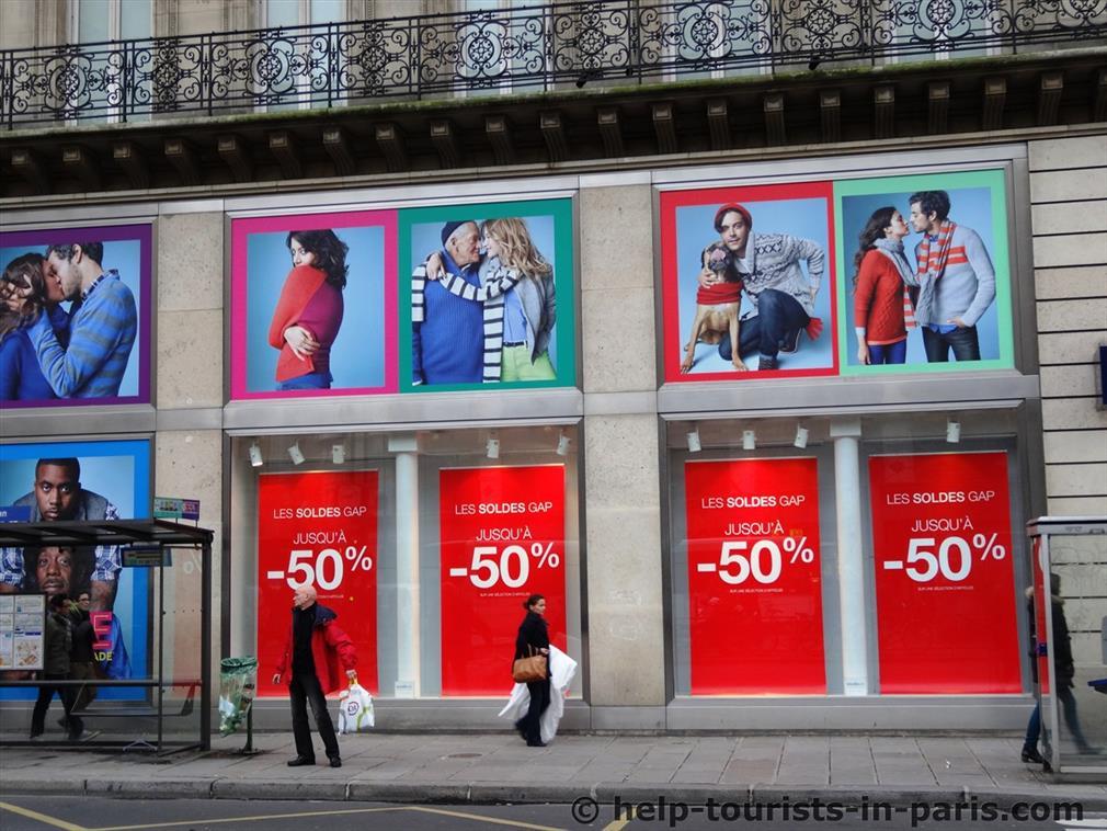 Winterschlussverkauf in Paris