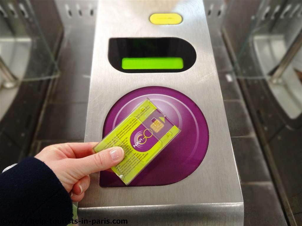 Entwertung Wochenpass Metro Paris