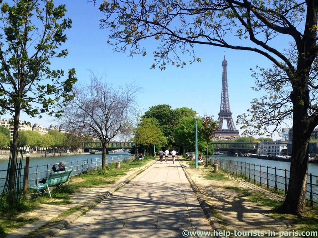 Ideal zum Joggen in Paris