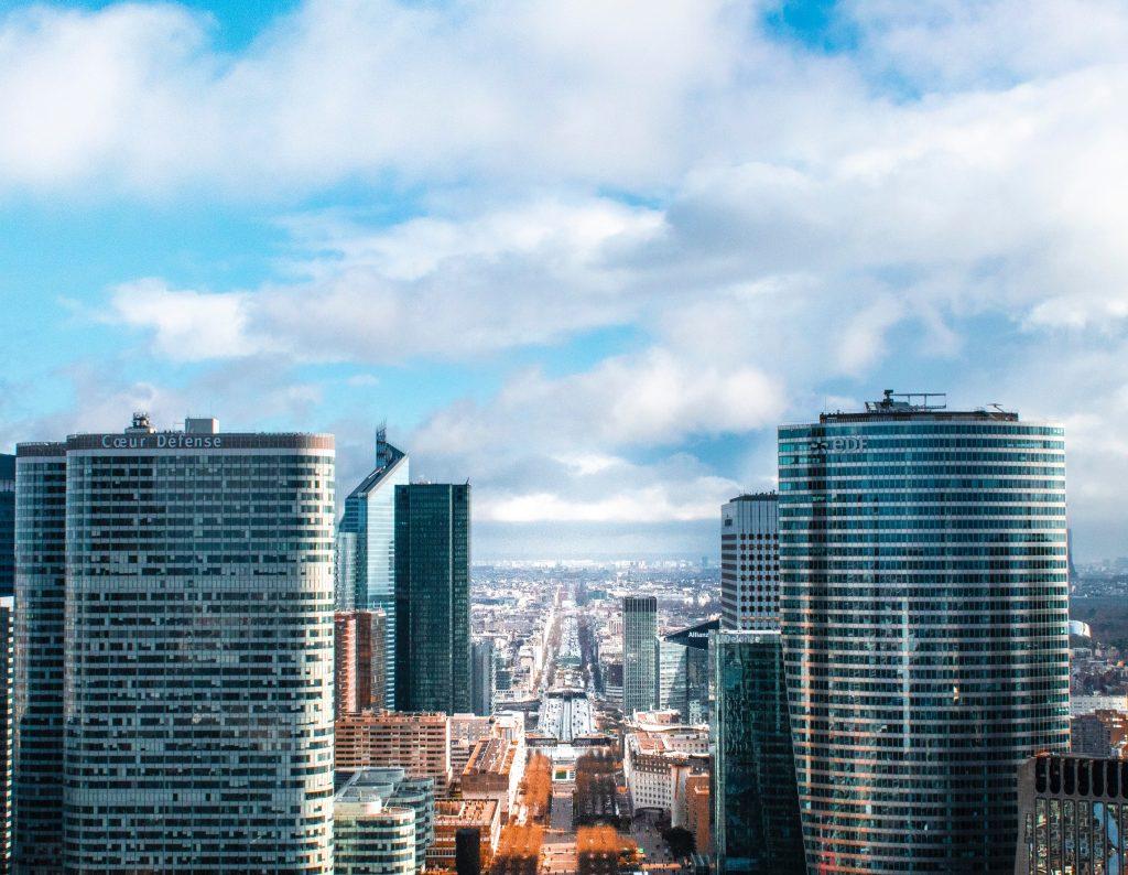 Blick auf die Champs-Elysées