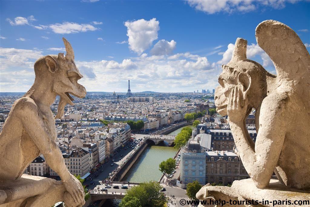 Notre Dame Blick auf Paris von den Türmen
