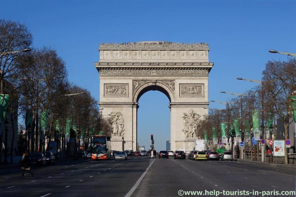 Triumphbogen in Paris, auf der Champs-Elysées