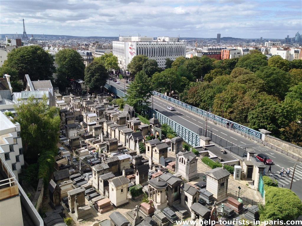 Blick auf Montmartre Friedhof