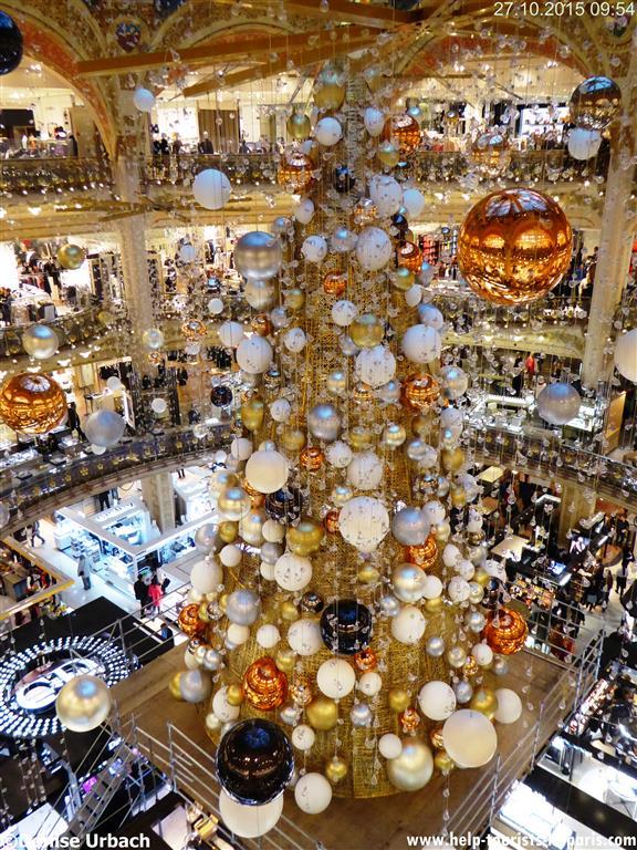 Weihnachtsbaum Galeries Lafayette 2015