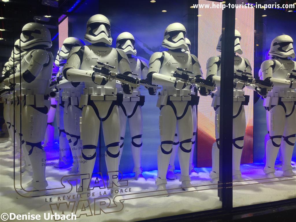 Star Wars Thema Weihnachten Galeries Lafayette 2015