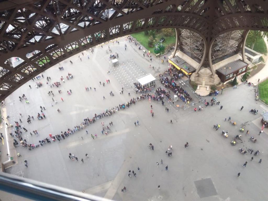 Wartezeit Eiffelturm