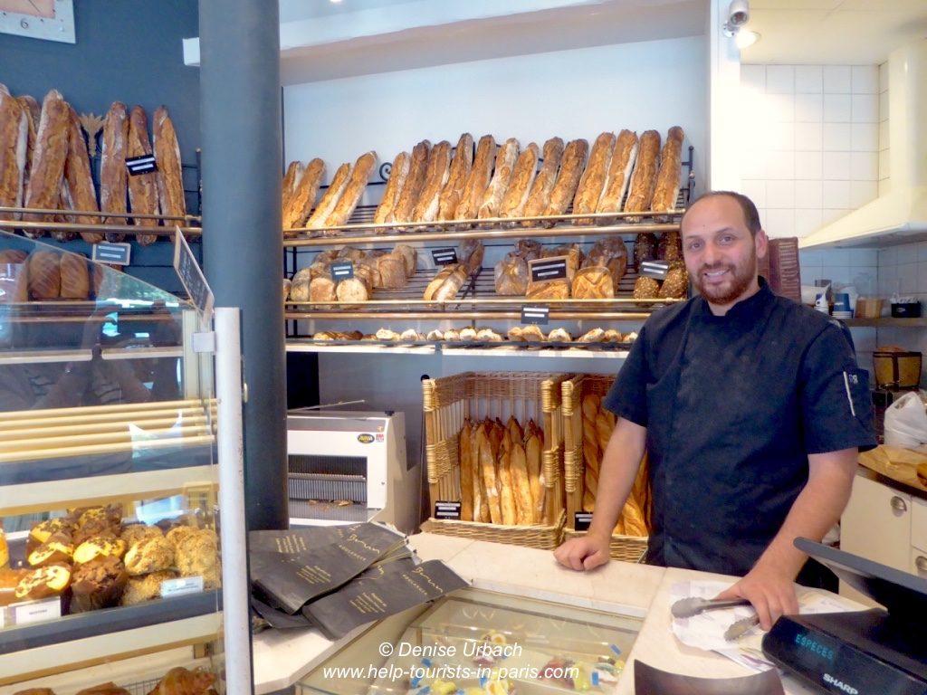 Bestes Baguette Paris Bäcker Brun