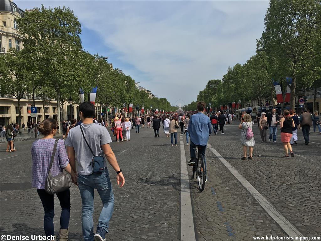Champs-Elysées Paris ohne Autos