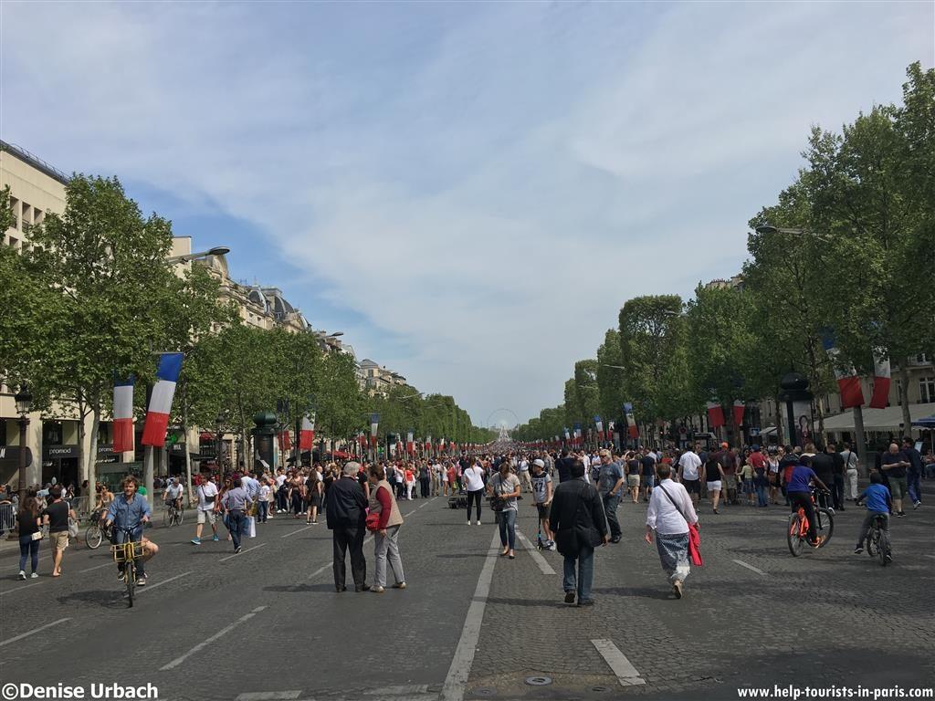 Champs-Elysées in Paris ohne Autos