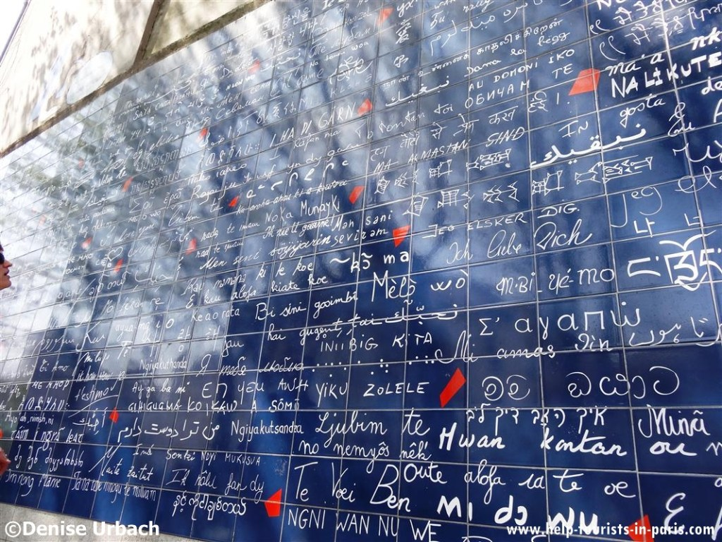 Mur des je t'aime in Paris