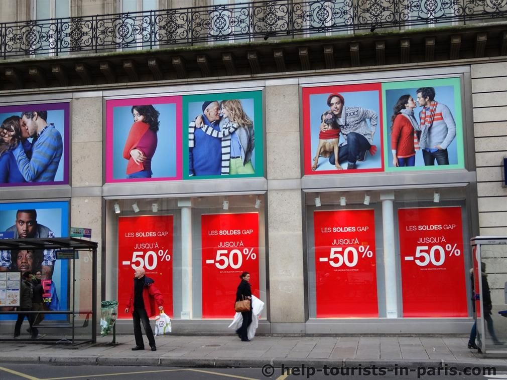 Schlussverkäufe in Paris
