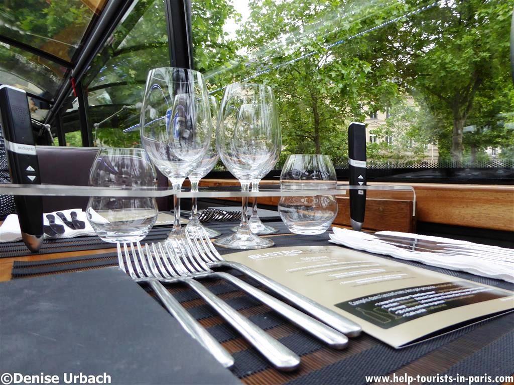 Bustronome Paris Tische
