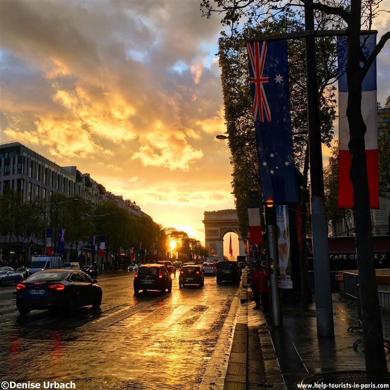 Sonnenuntergang Triumphbogen Paris