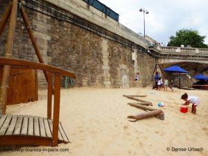 Paris Plages Sandkasten