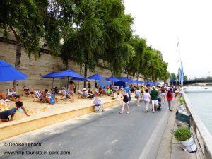 Viele Leute bei Paris Plages