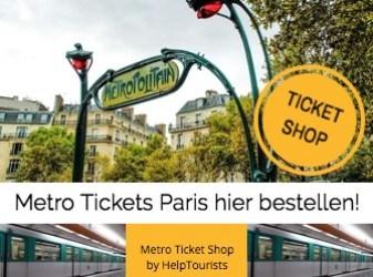 Paris Metro Tickets bestellen!
