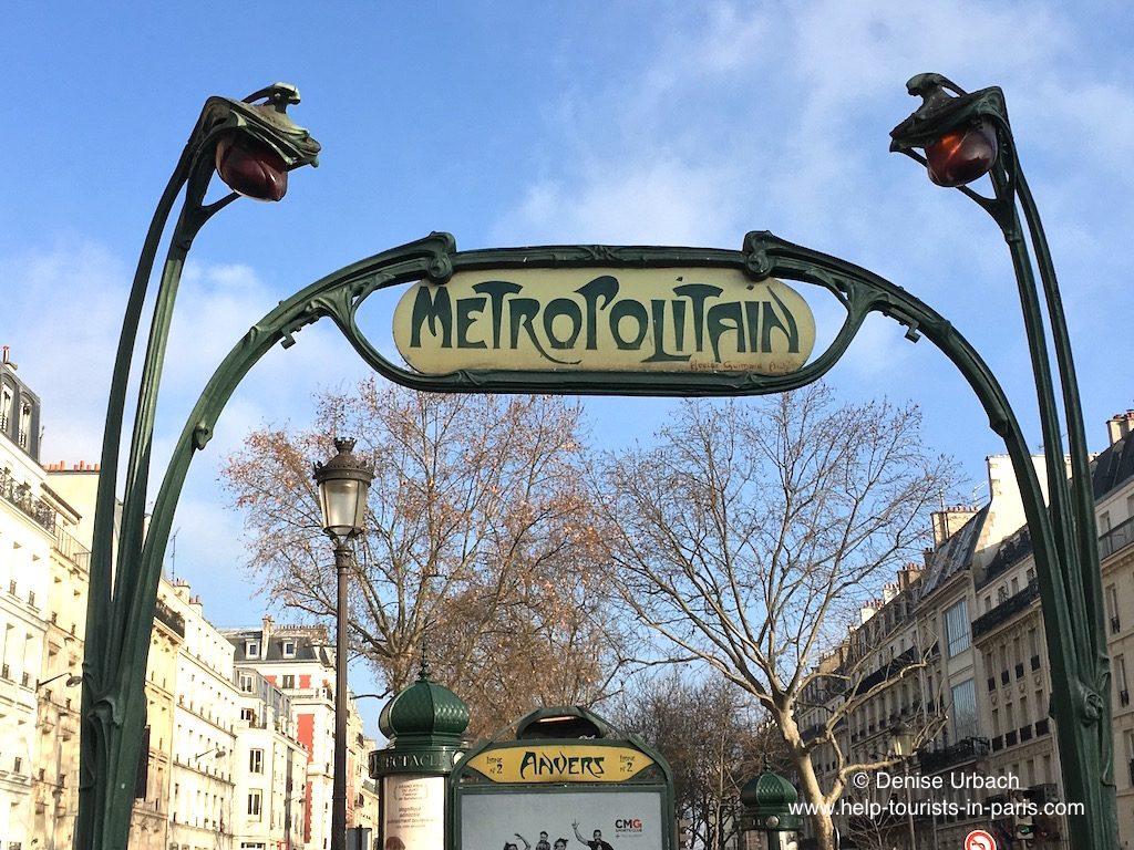 Metro Anvers Eingang