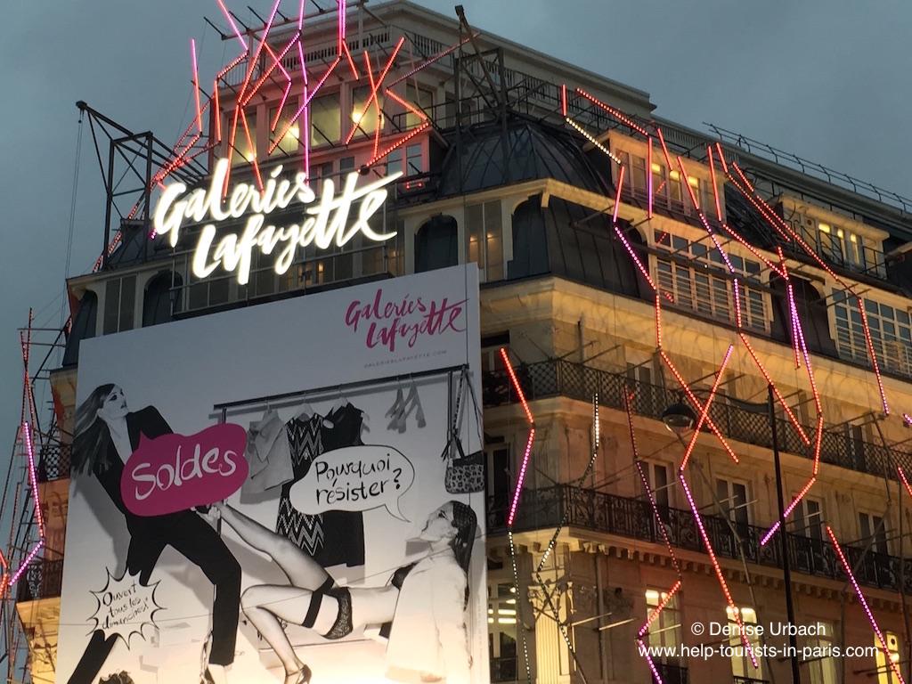 Winterschlussverkauf Galeries Lafayette