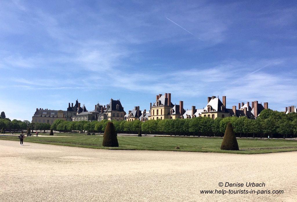 Besuch im Schloss Fontainebleau