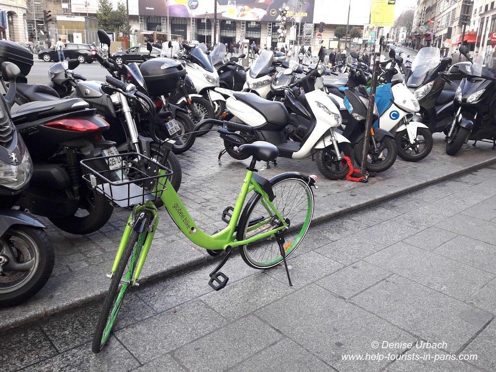 Paris Fahrrad Verleih ohne Station