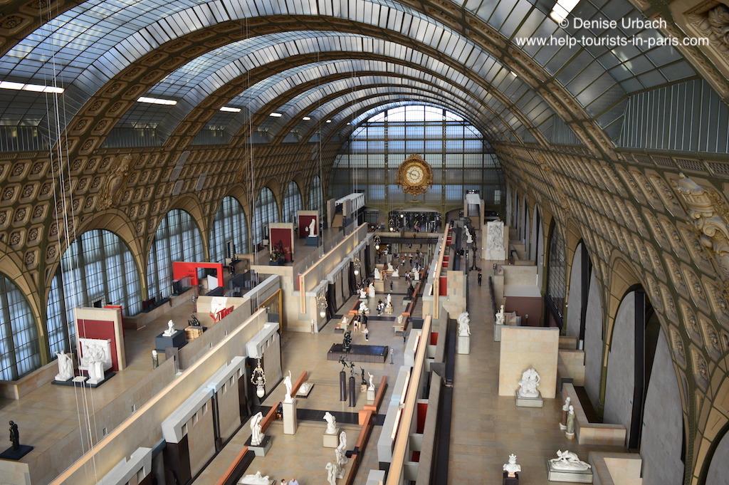 Musée d'Orsay Ausstellungshalle von oben