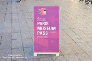 Paris Museum Pass Werbeschild