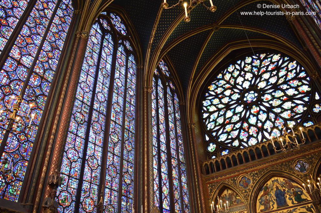 Paris Sainte Chapelle Fenster und Decke