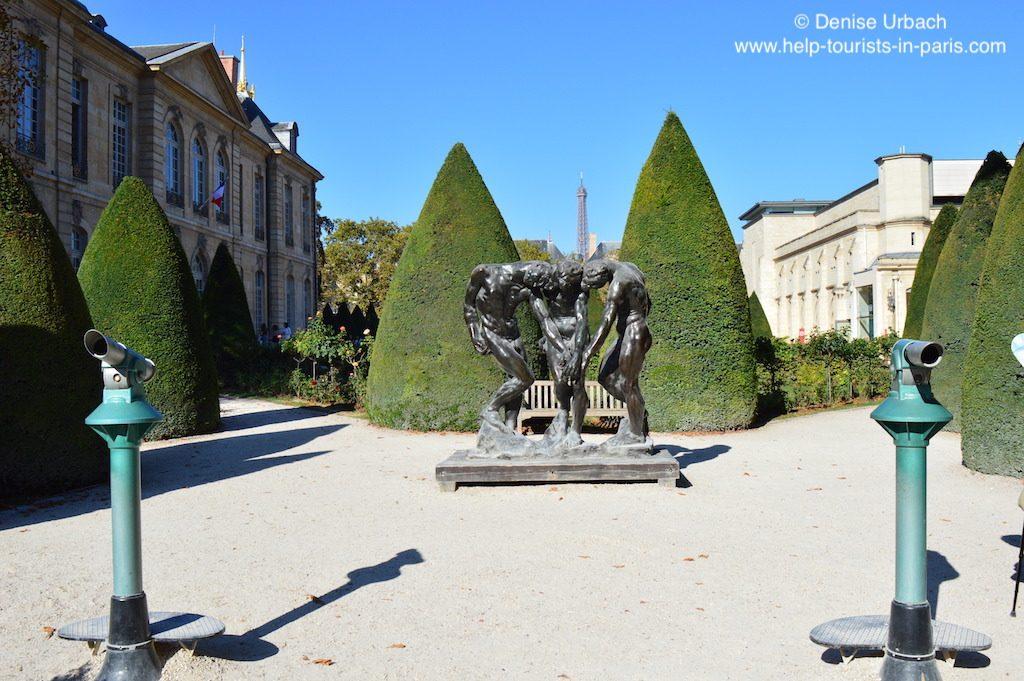 Rodin Museum Park Bronzestatue Eiffelturm