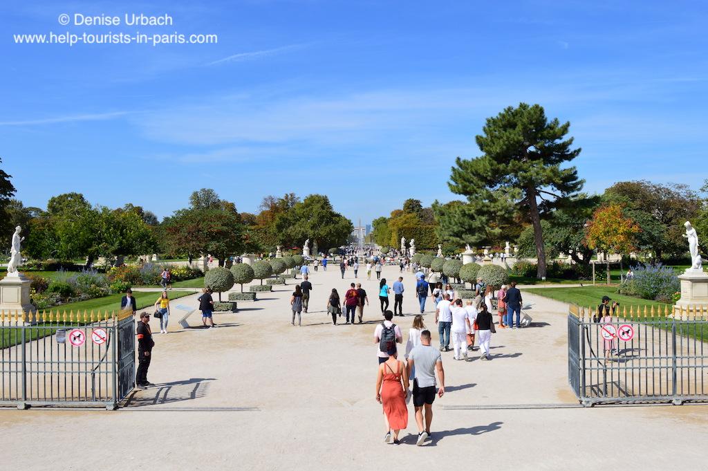 Tuileriengarten Blick auf Champs Elysee