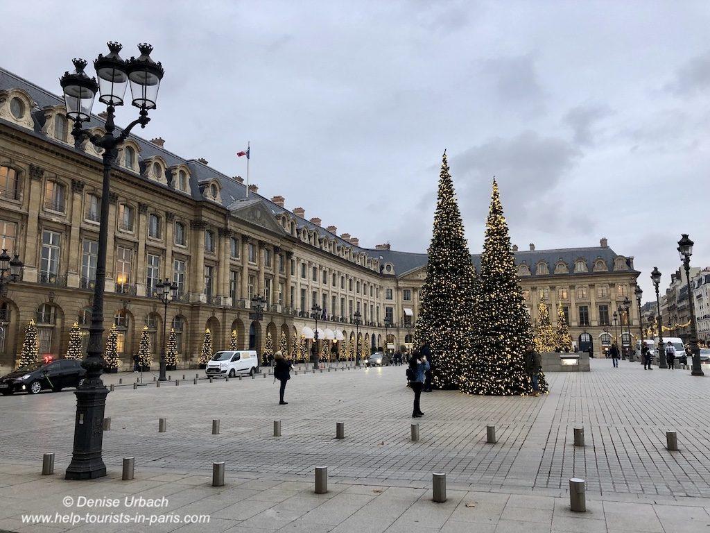 Place Vendome an Weihnachten in Paris