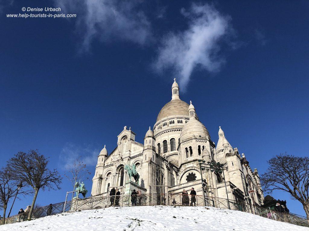 Winter Montmartre Sacré Coeur