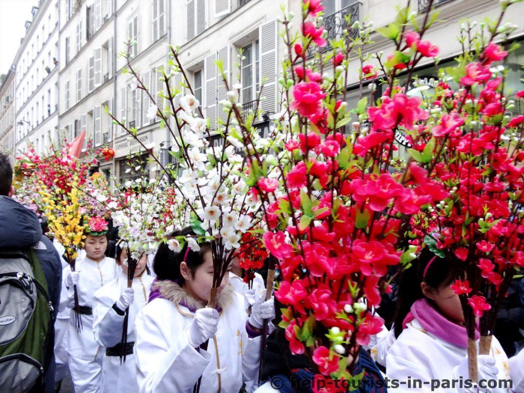 Umzug chinesisches neues Jahr Paris