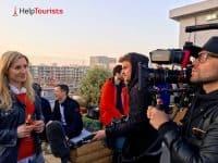 Fernsehdreh Frankreich Fussball EM