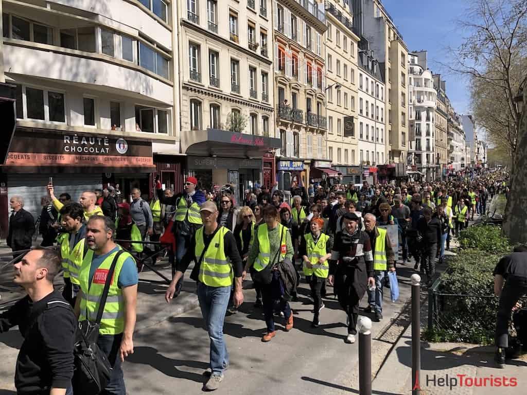 Gelbwesten Demonstration in Paris