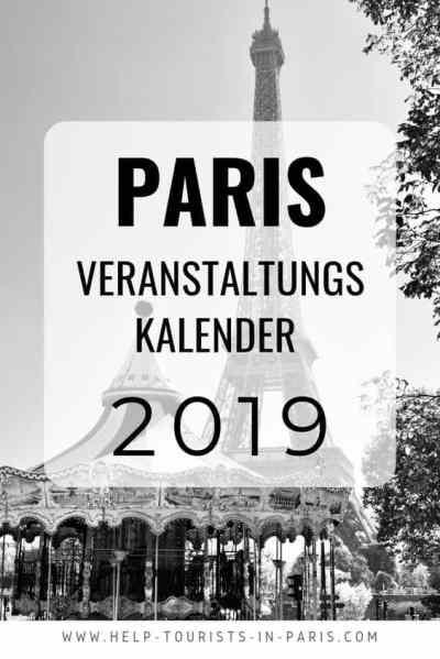 Paris Veranstaltungskalender 2019
