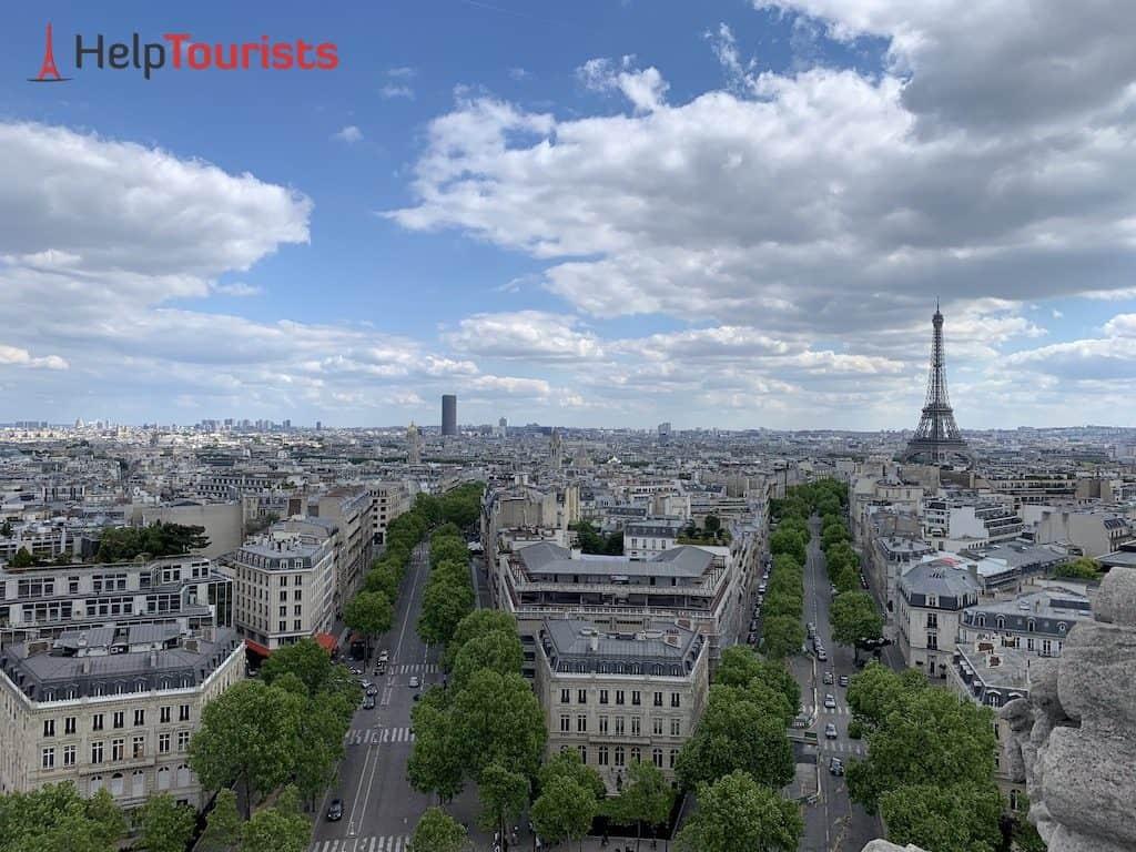 Triumphbogen Paris Ausblick