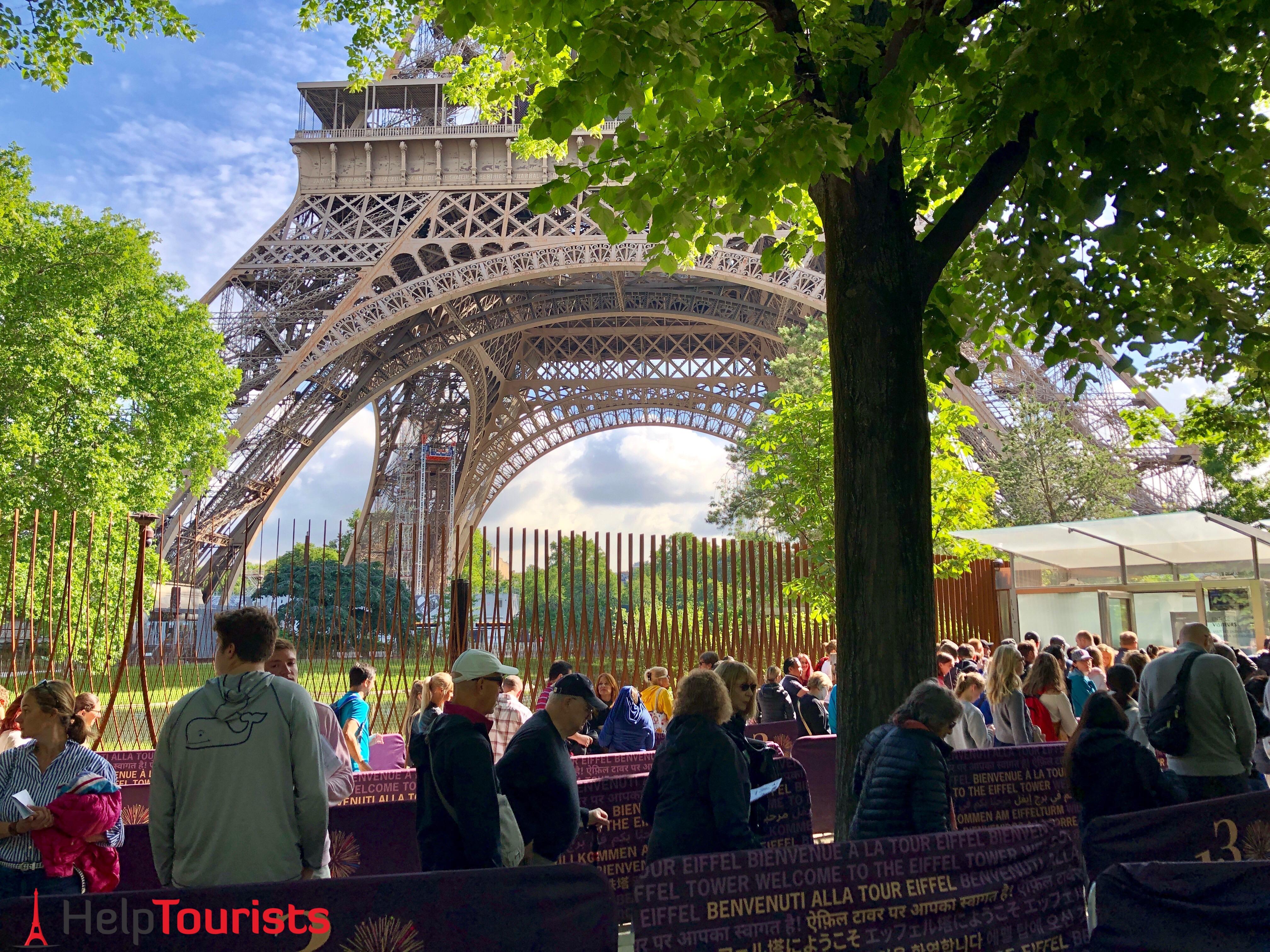 Wartezeit am Eiffelturm?