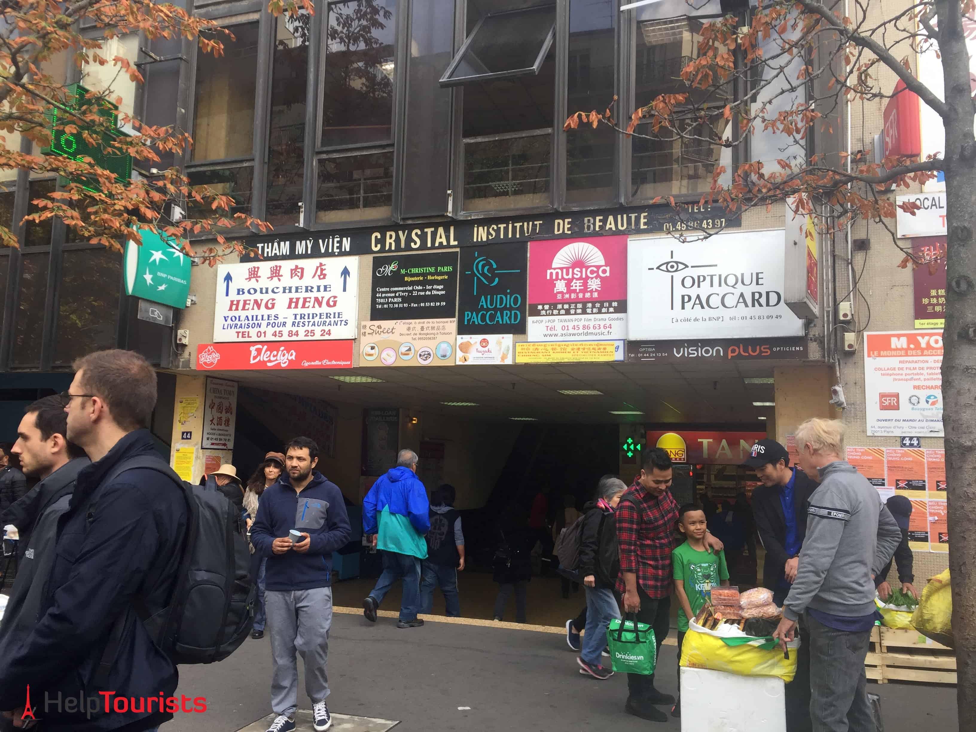 Paris Chinatown Eingang