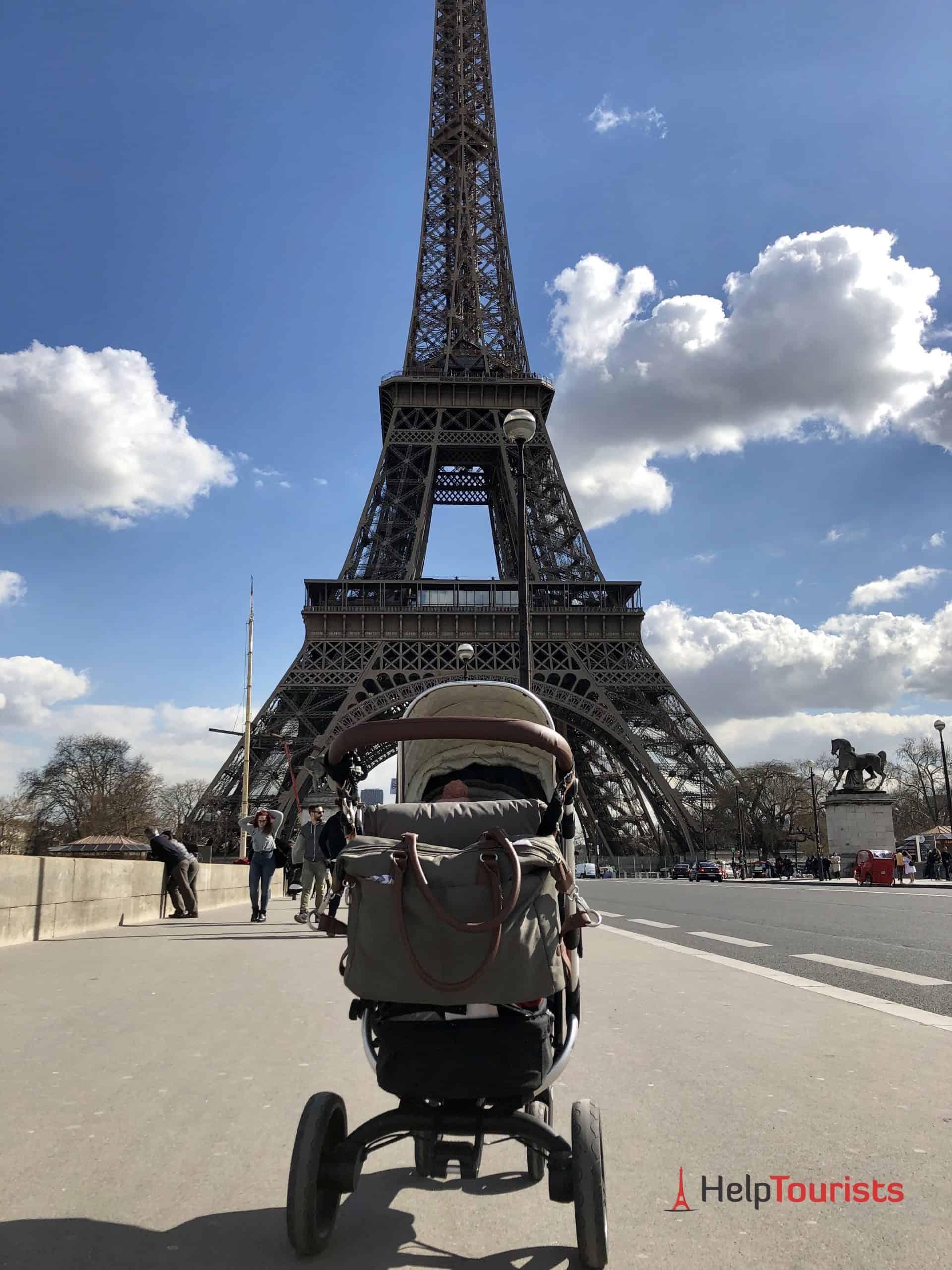 Mit Kinderwagen in Paris
