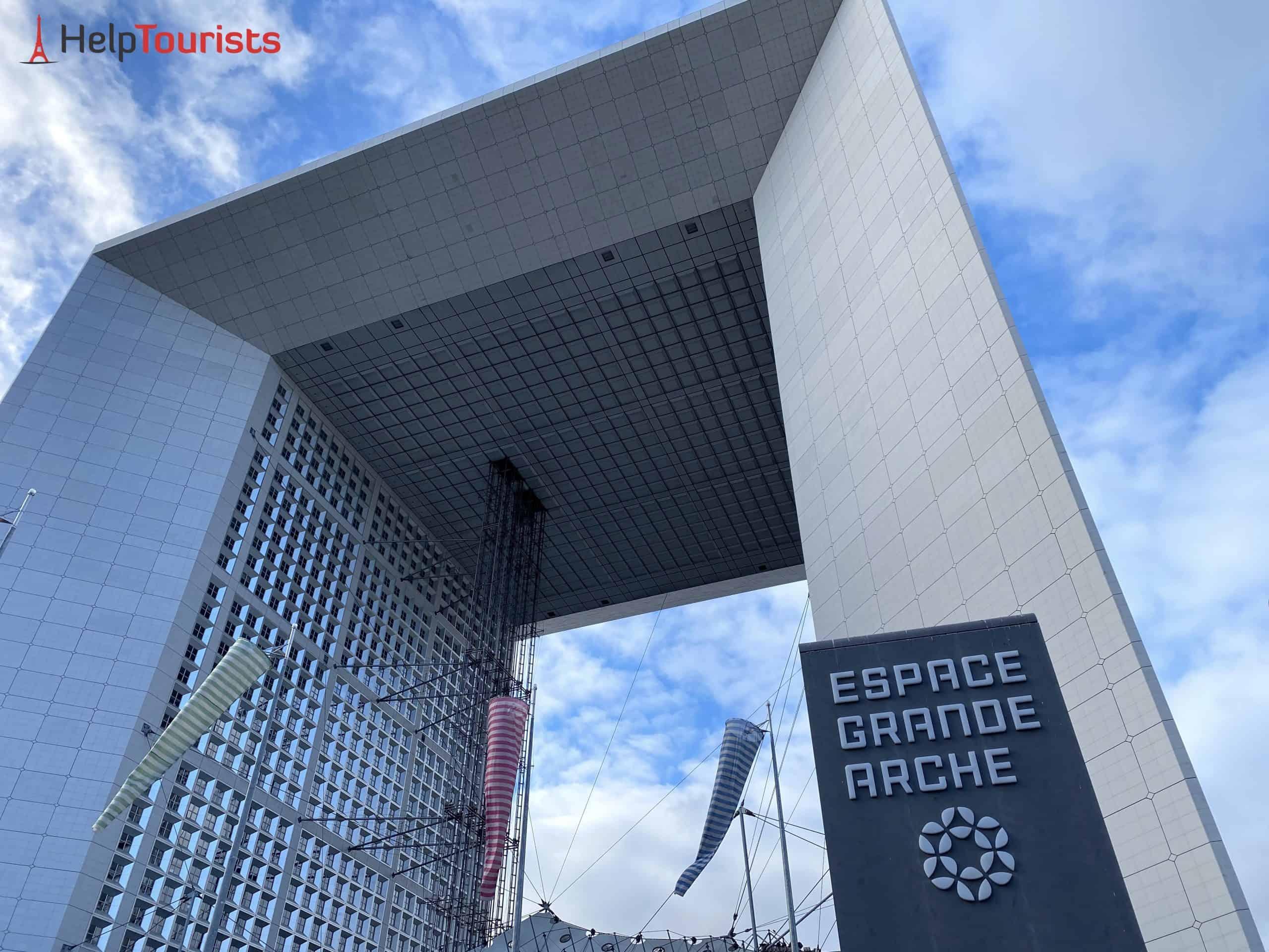 Paris la Défense Grande Arche Schild