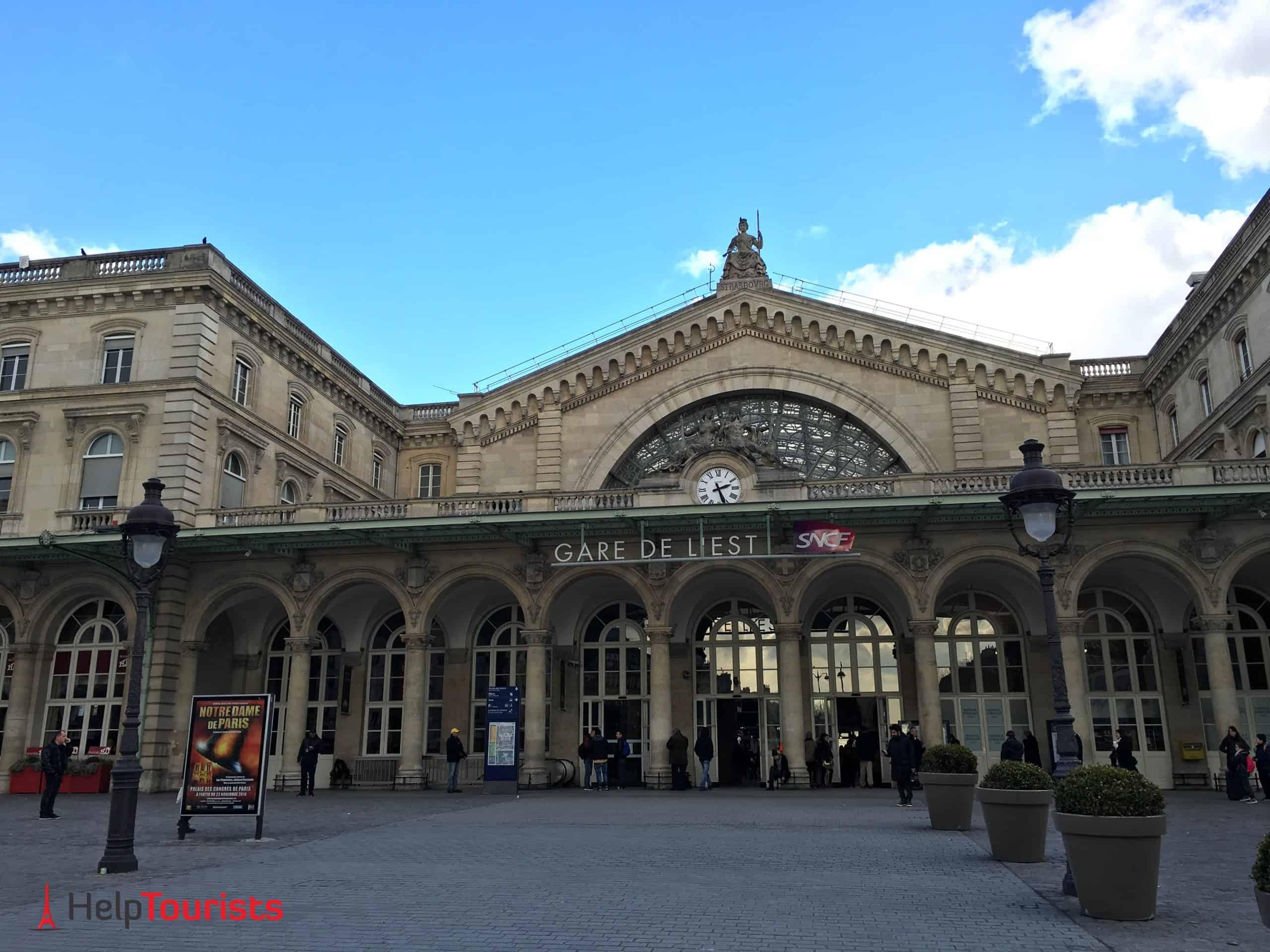 Paris Gare de l'Est von außen