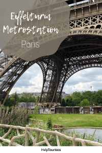 Pin Eiffelturm Metrostation
