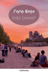 Pin Paris Reise trotz Corona