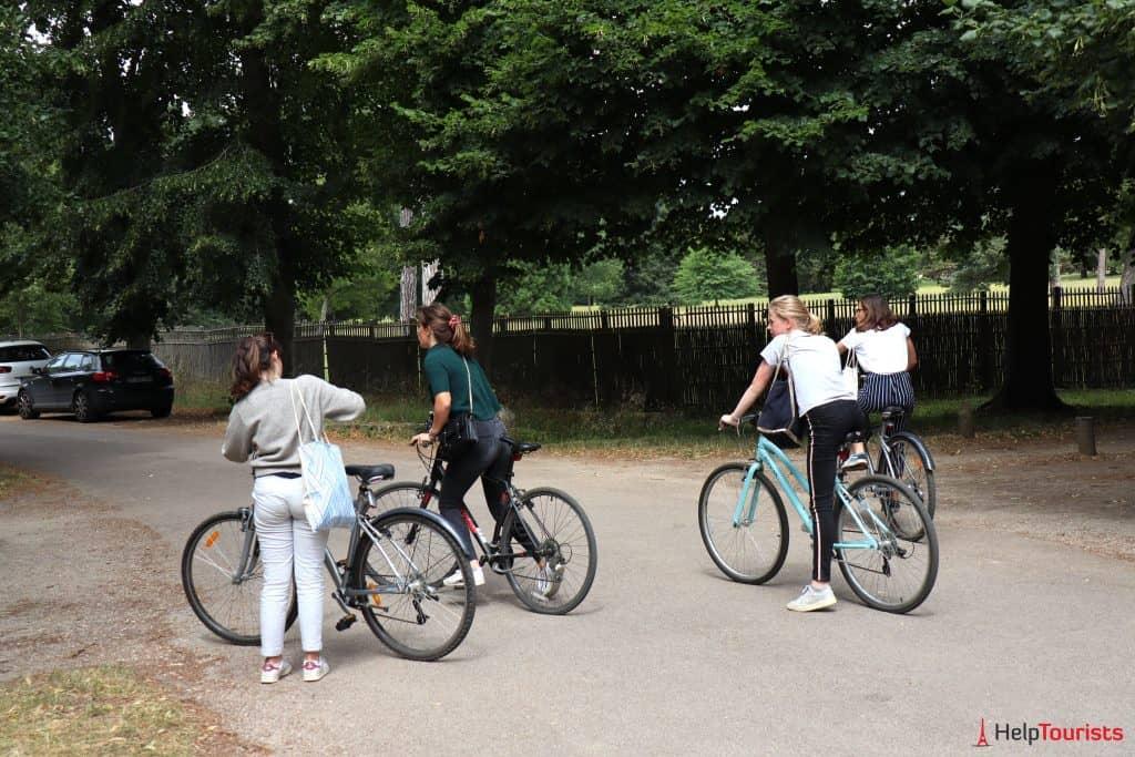 Paris Versailles Garten Fahrrad 2