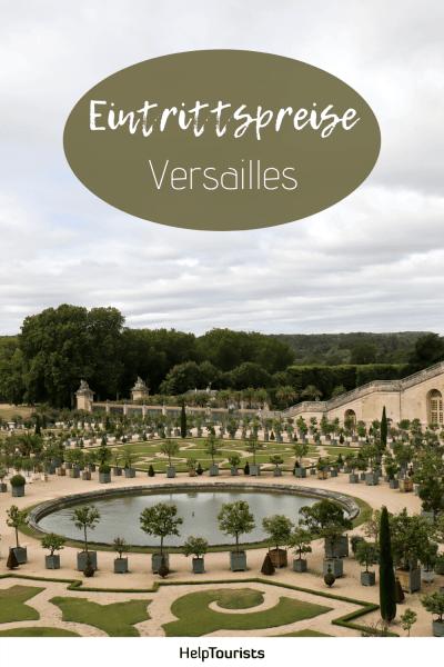Pin Eintrittspreise Versailles