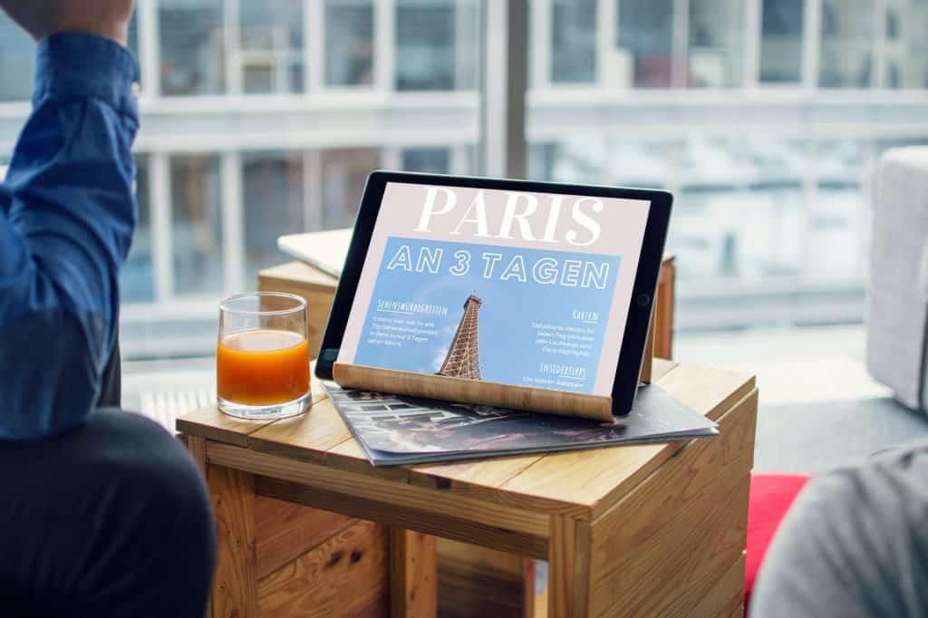 Paris an 3 Tagen Tablet