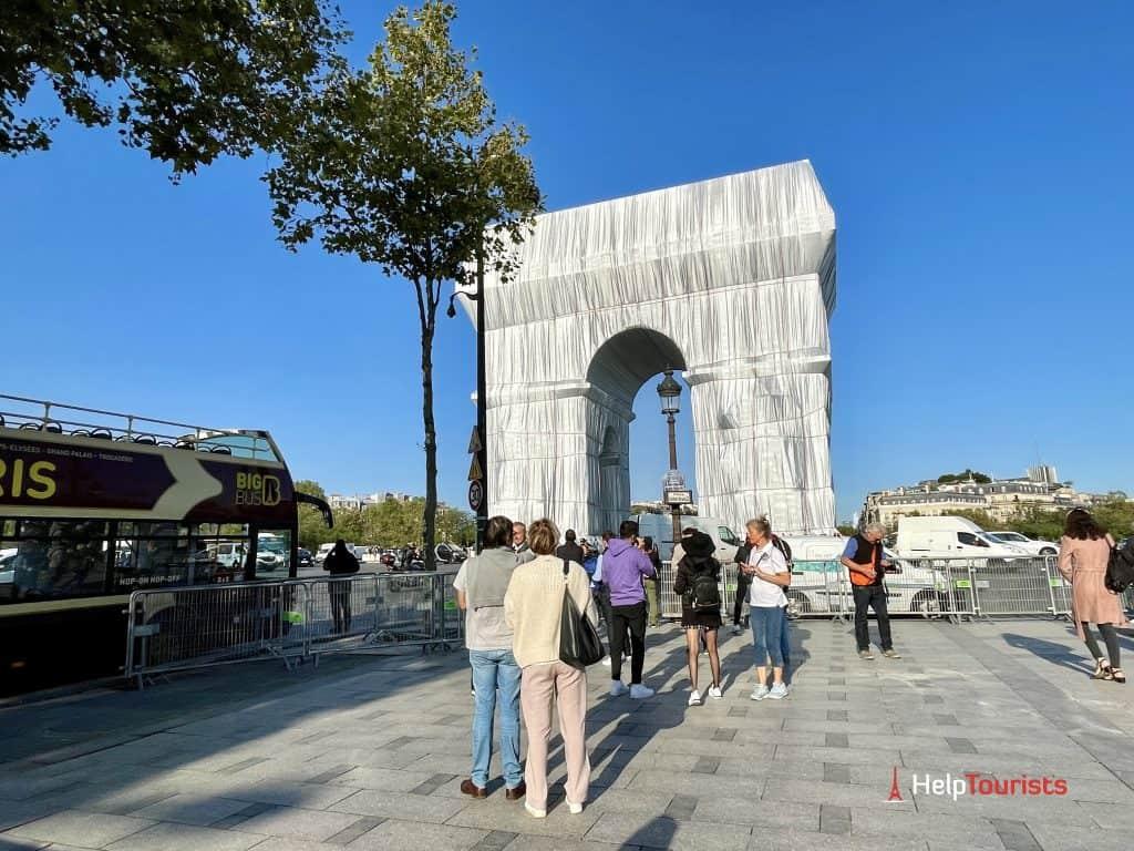 Wrapped Arc de Triomphe